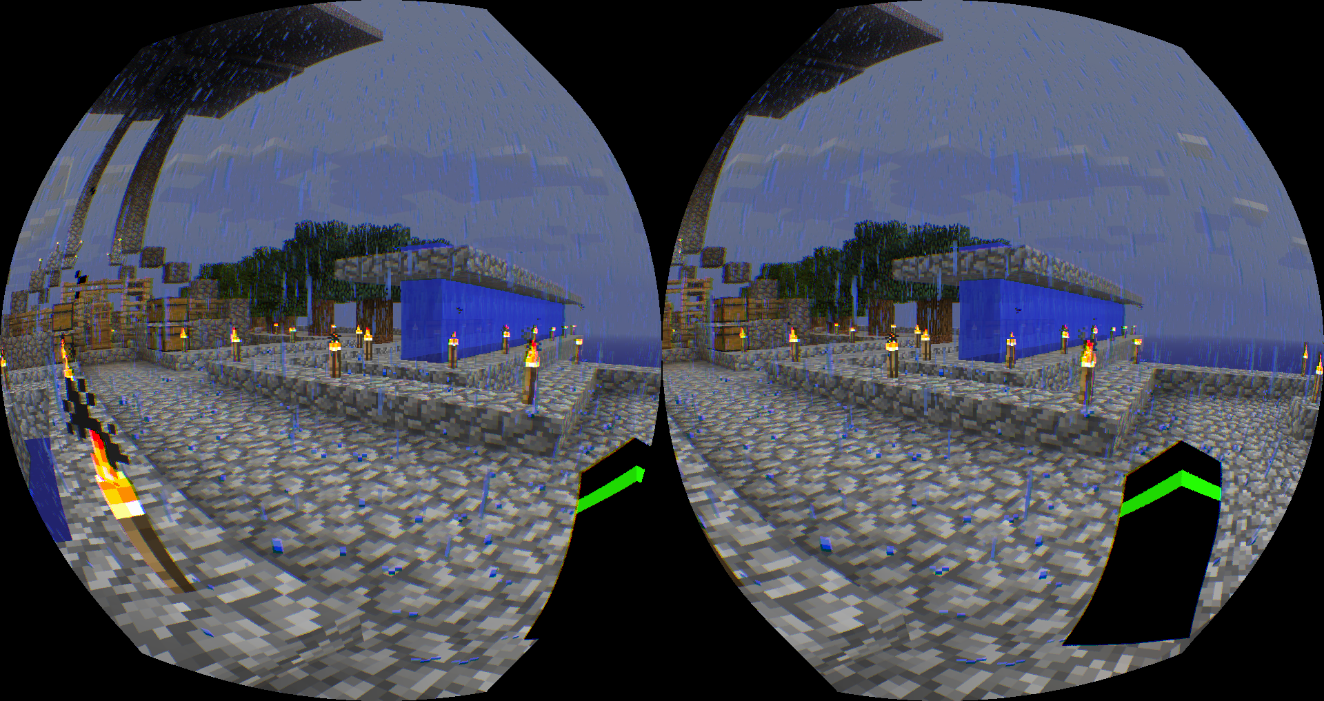 Virtual Reality Minecraft 1.8 with Google Cardboard