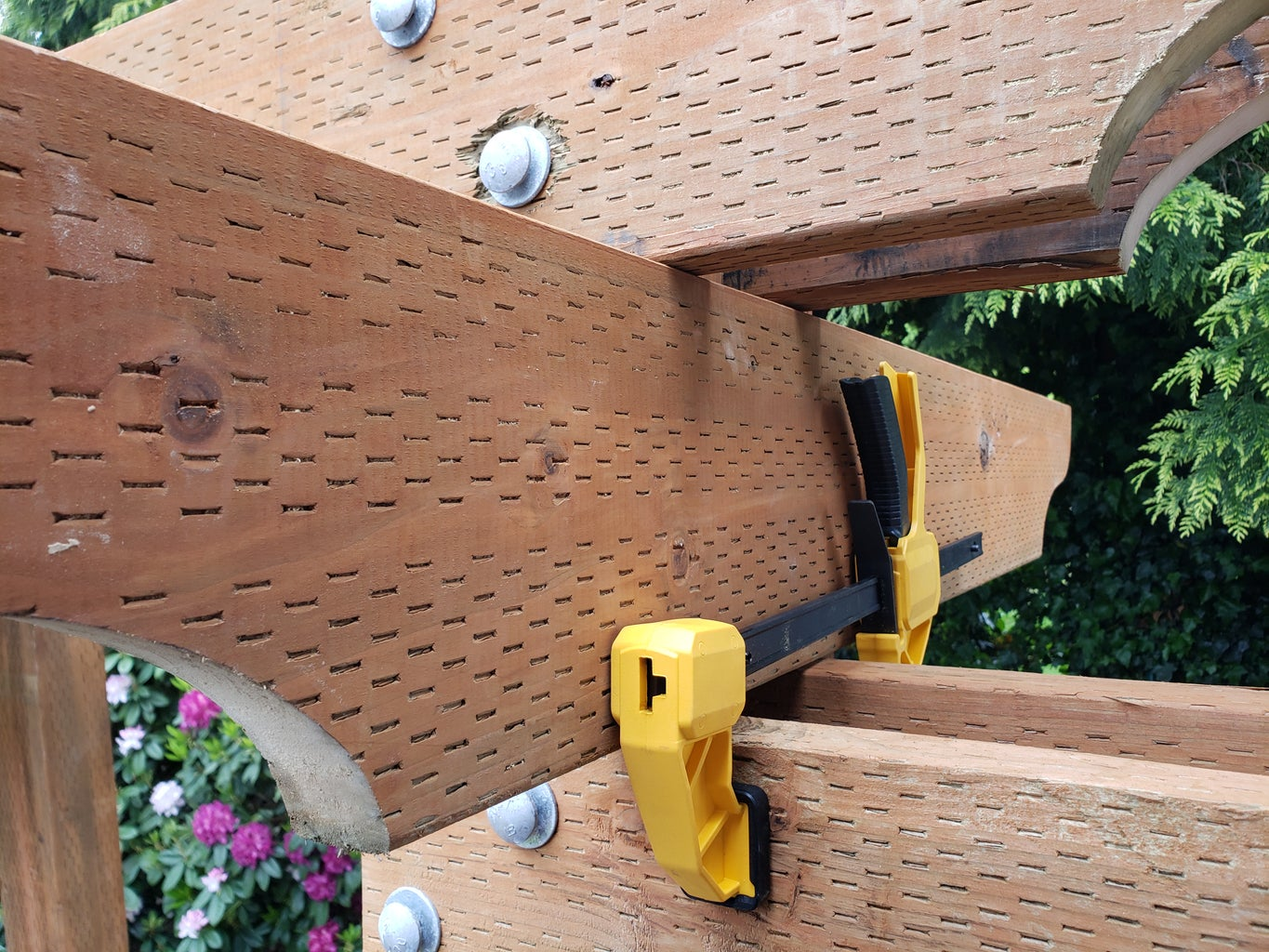 Arch Arbor Side Cross Boards Part 2