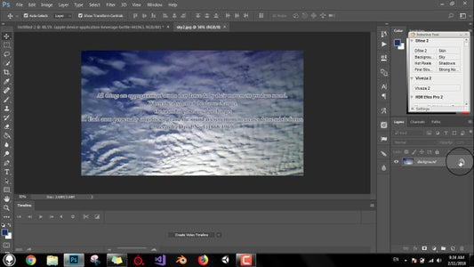 Drag the Background Layer to the Original Image