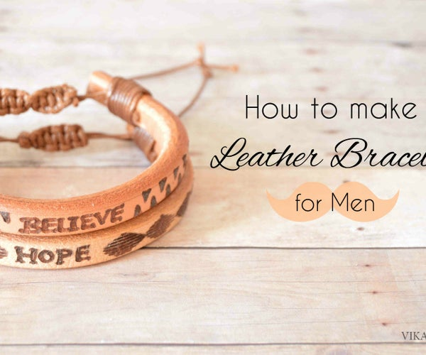 How to Make Leather Bracelet for Men