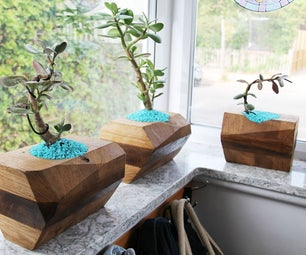 MiXed WooD PLanteR