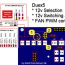 Duex5 - Use Build in 12v Switching Regulator on 24v System