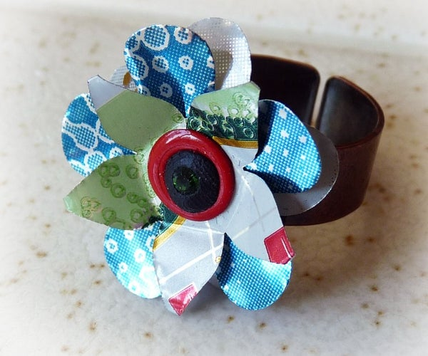 Pop Can Flower Rings