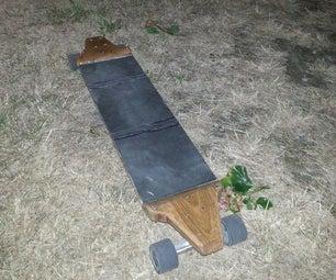 Homemade Longboard Made of Oak