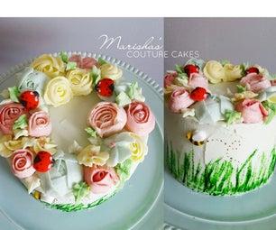 May Flowers Wreath Cake