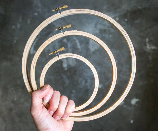 How to Sand Embroidery Hoops