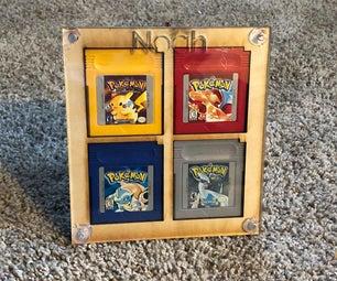 Gameboy Cartridge Display and Shelving