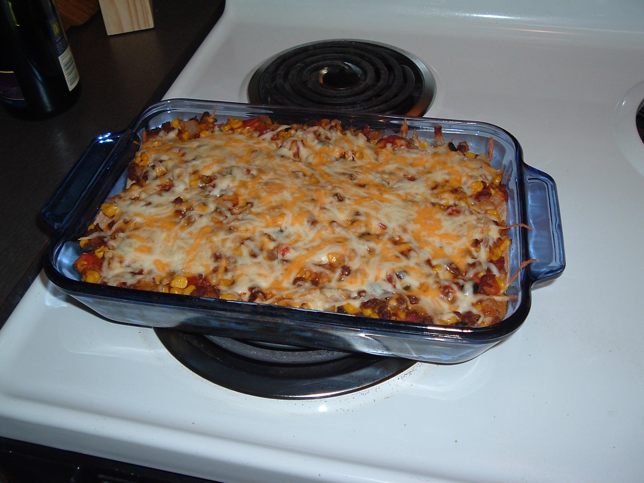 Veggie Mexican Lasagna
