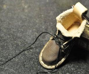 Leather Shoe Key Fob