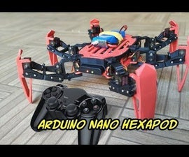 Afordable PS2 Controlled Arduino Nano 18 DOF Hexapod