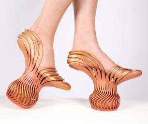 Spring Heel Shoes - 3D Print