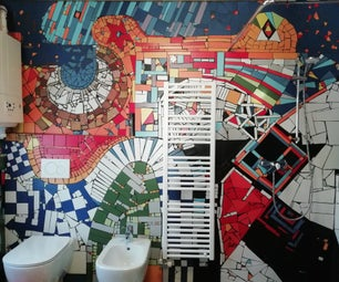 Gaudí Style Bathroom With Mosaic and Stained Glass