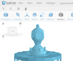 Learn SelfCAD- an Online 3D Modeling Software: Designing the Grand Central Station Information Center