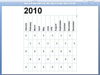 Edit Your Calendar Document
