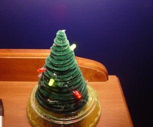 Mini Christmas Tree (With Lights!)