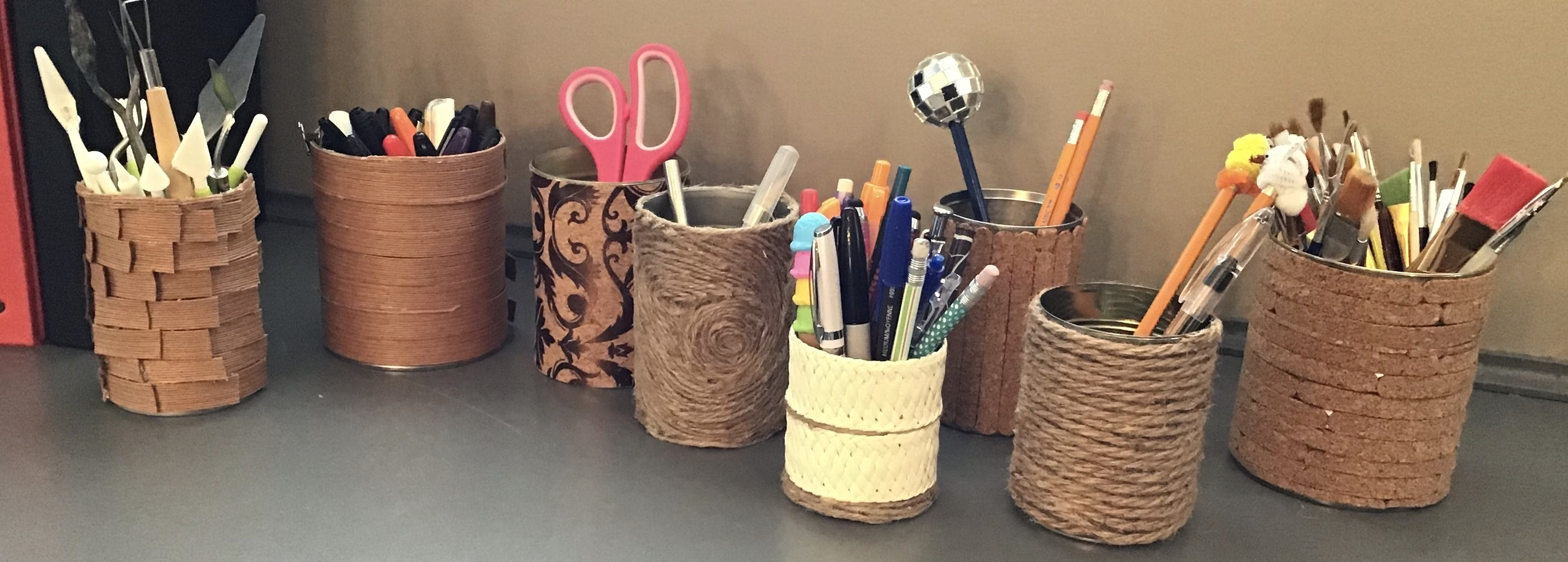 Upcycled Pen/Pencil Holder ....