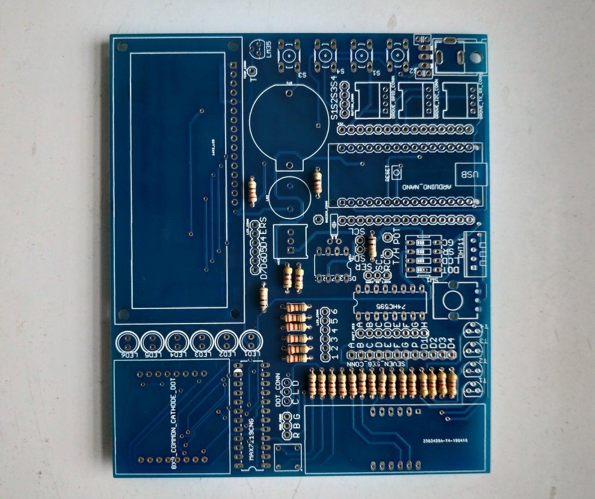 Soldering (Resistor, Pin Header & IC Base)