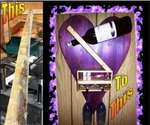 2X4 Wine Bottle & Glass Holder
