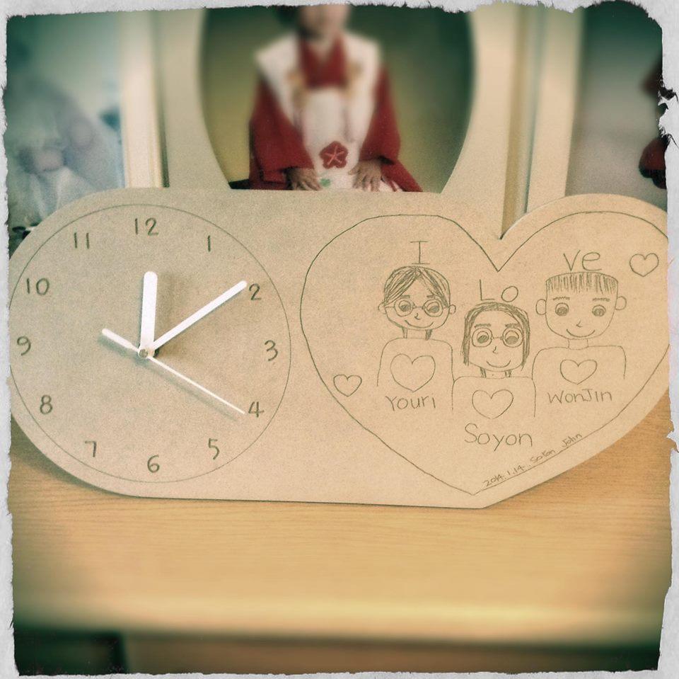 家族の愛たっぷりの時計