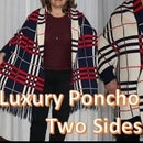 Luxury Poncho With Two Sides