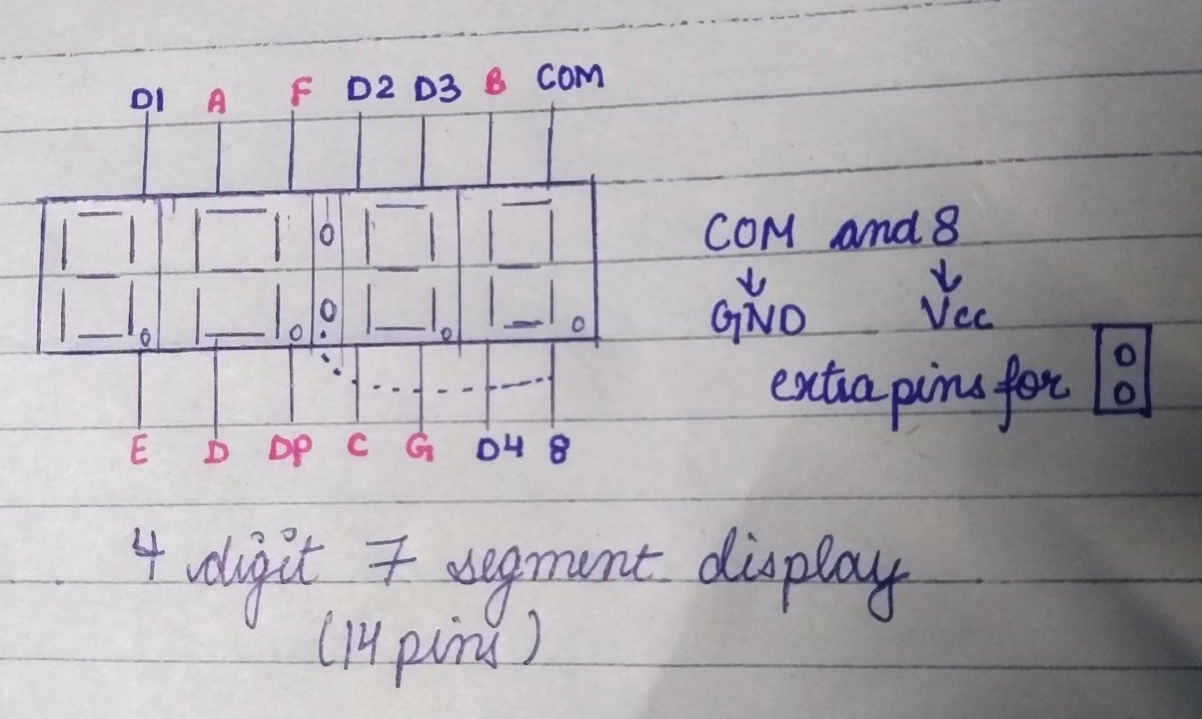Pin Diagram of 14 Pin Display
