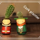 Cork-figurine planter
