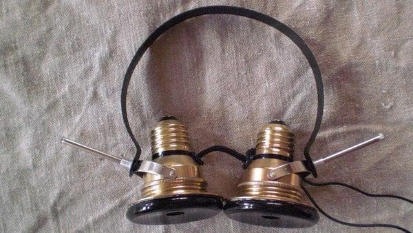 Steampunked Vintage Headphones