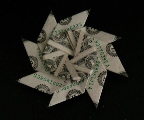 Transforming Money Flying Disc (dollar Bill Origami)
