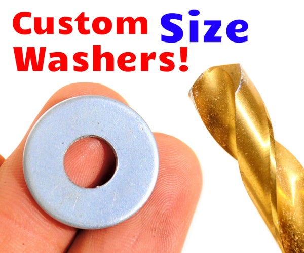 How to Enlarge a Washer (No Drill Press Needed!)