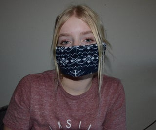 Upcycled Winter Face Mask