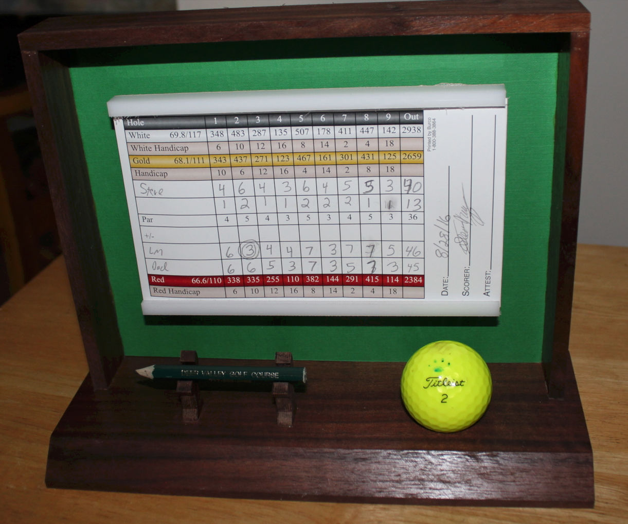 Golf Scorecard Display Case, Easy Joinery!