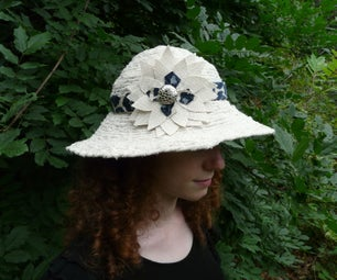 Convertible Sun Hat Made From Strips of Fabric