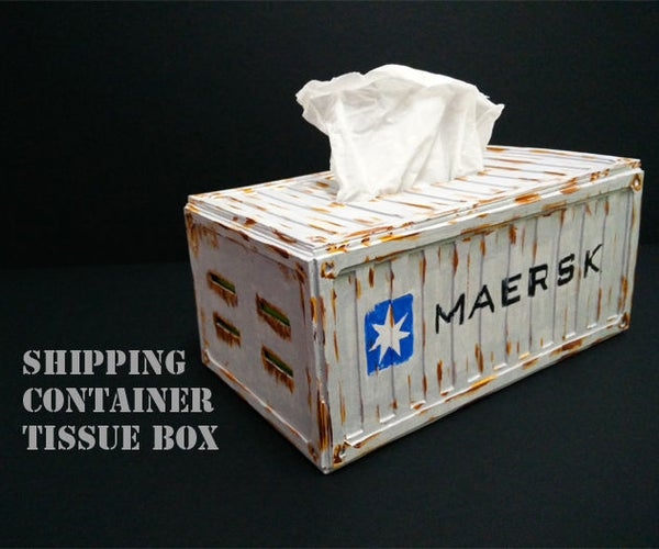 Shipping Container Tissue Box