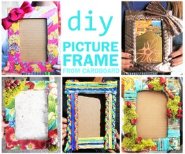 DIY PICTURE FRAME From Cardboard and Decorative Materials