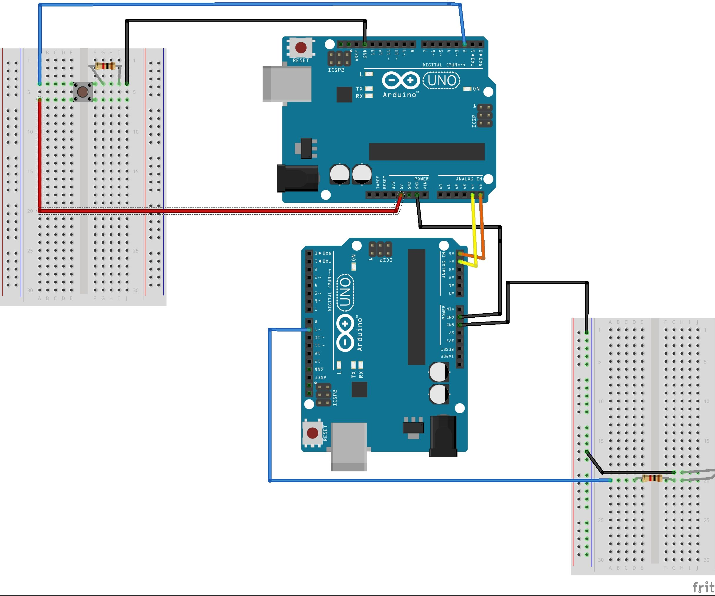 Communication Between Two Arduinos (I2C)