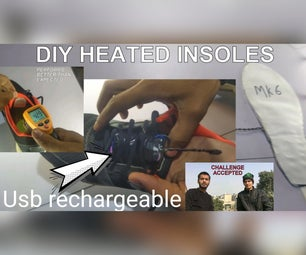 Diy Electric Heated Insoles (usb Rechargeable)