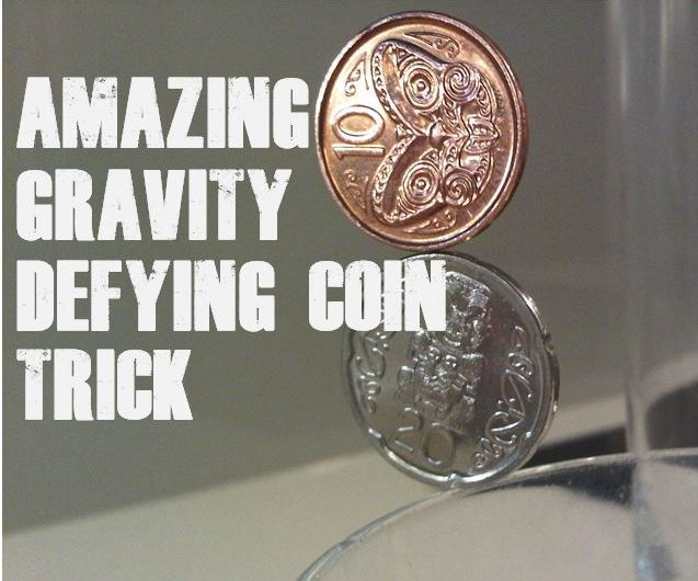 AMAZING GRAVITY DEFYING COIN TRICK!