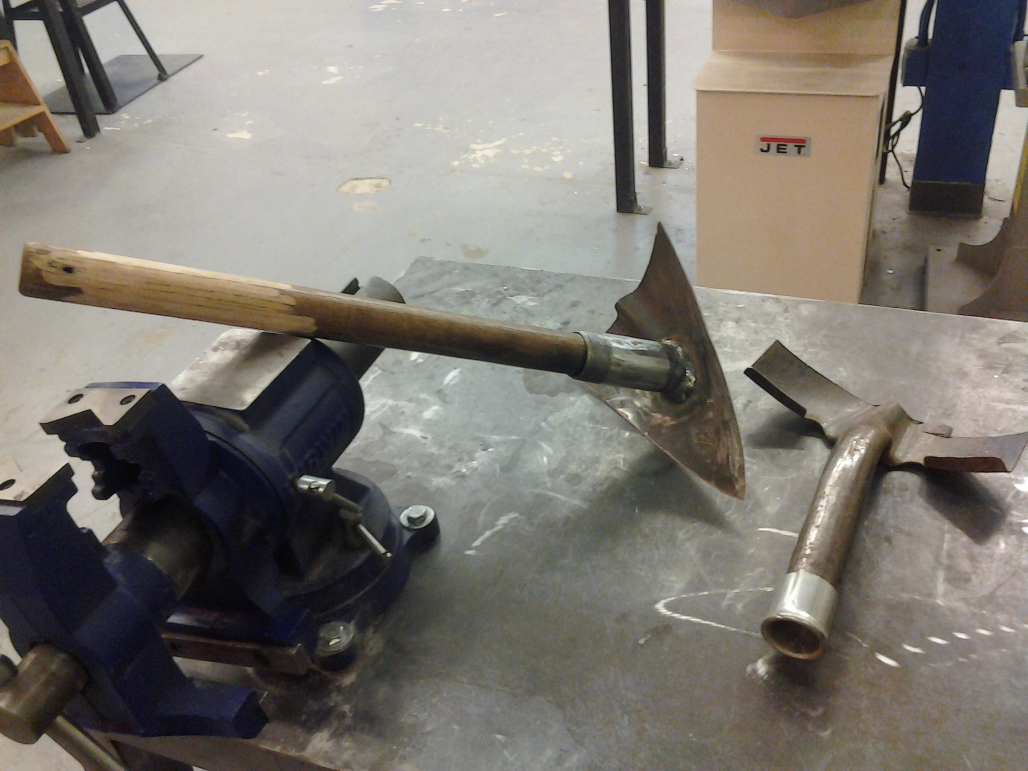 small hoe scrapper and pick