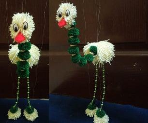 Yarn Walking Bird Puppet