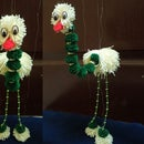 Yarn Walking Bird Puppet