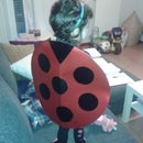 "Last-minute Ladybug costume. Disfraz ""ultima hora"" de Mariquita."