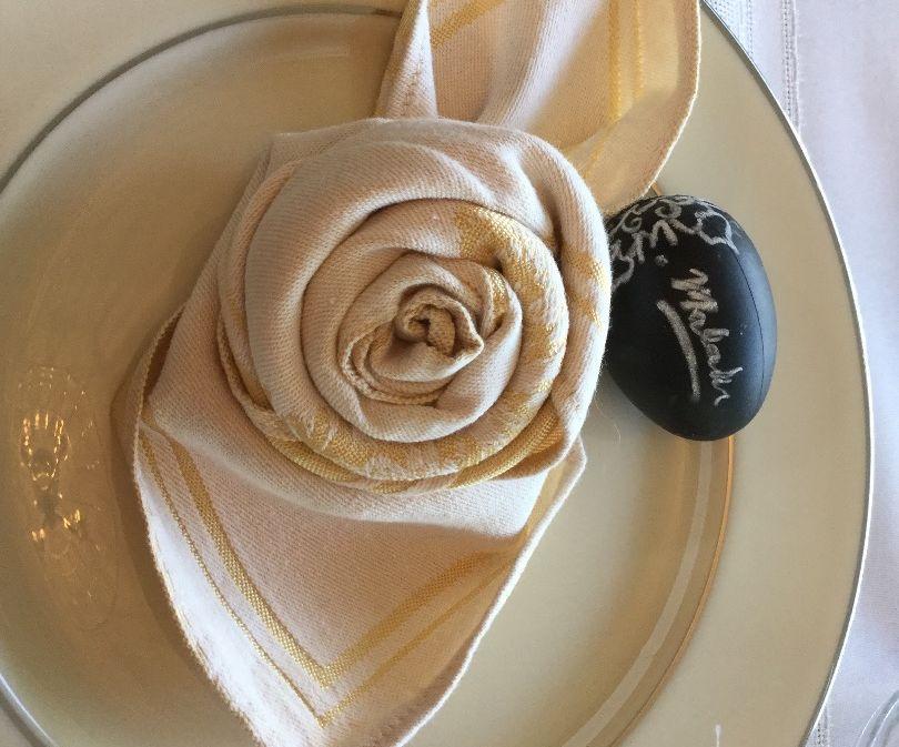 Royal Rose Napkins:Folding Tutorial