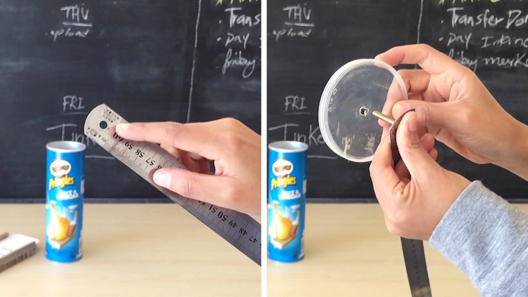 Fix the Ruler to the Lid