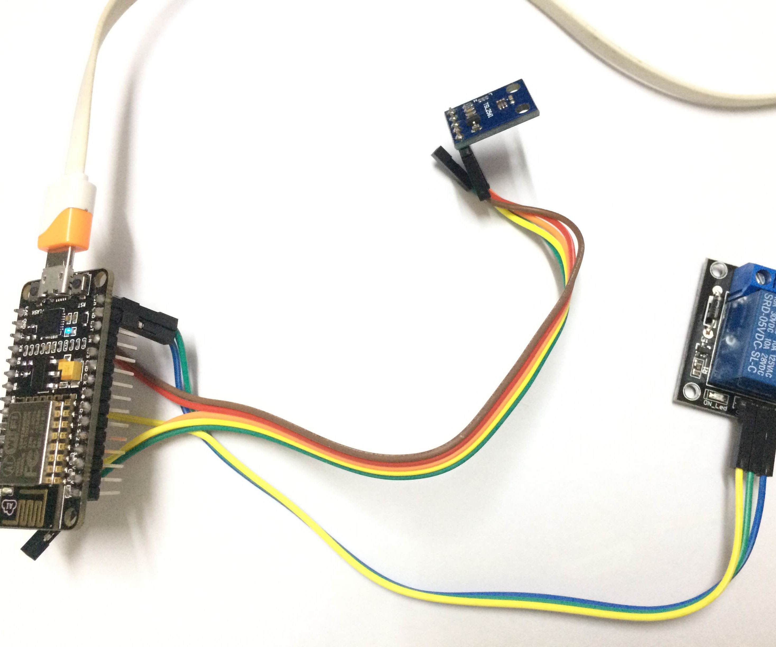 Easy IoT Ambient Light Sensor & Lux Meter using NodeMCU and Cayenne