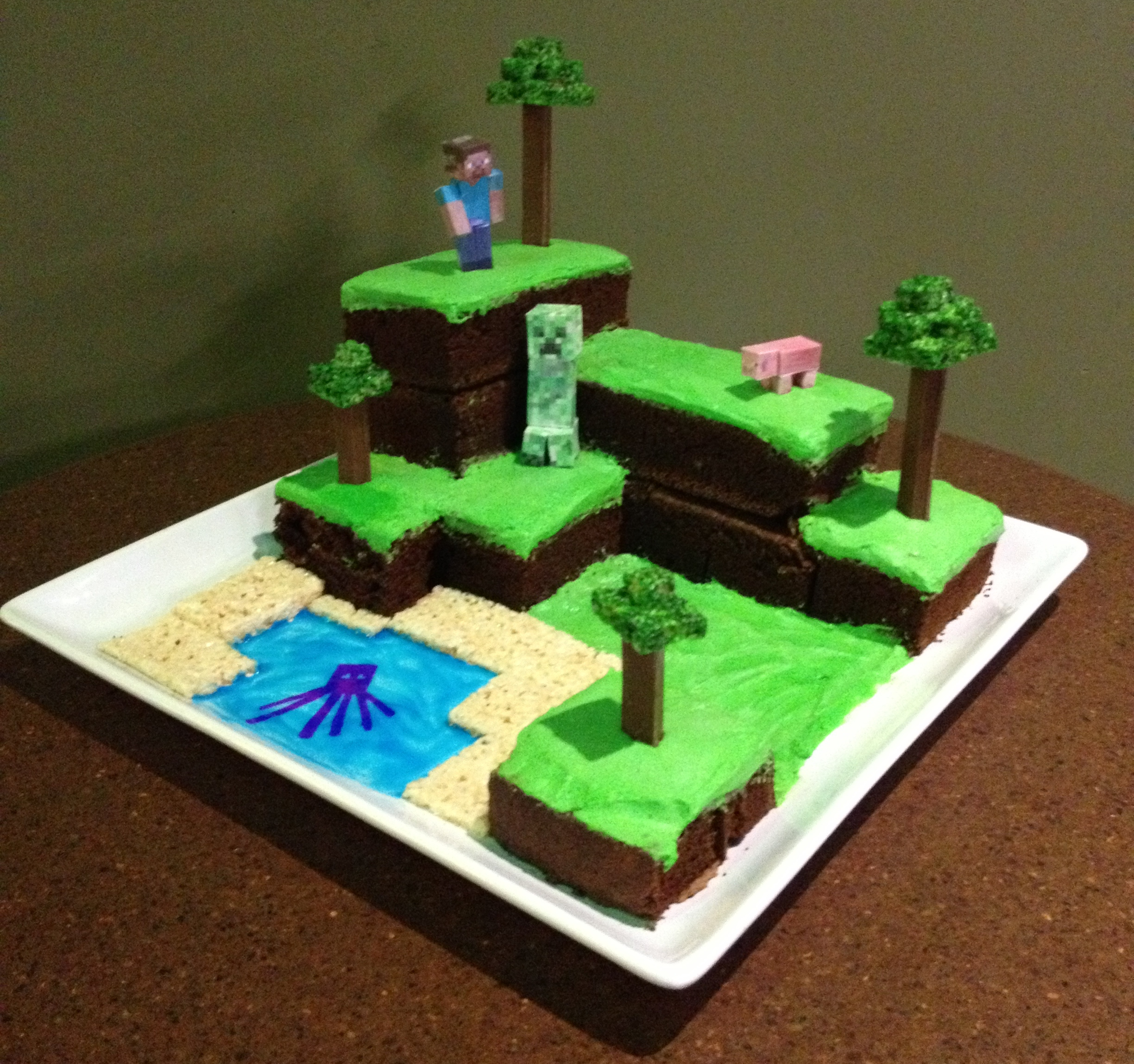 Minecraft World Cake