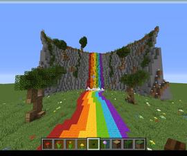 Minecraft Rainbow Waterfall