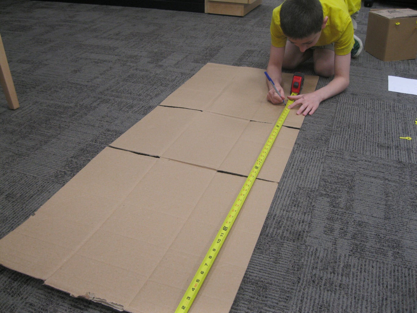 Mark and Cut the Cardboard Box Into Two Pieces of the Correct Size