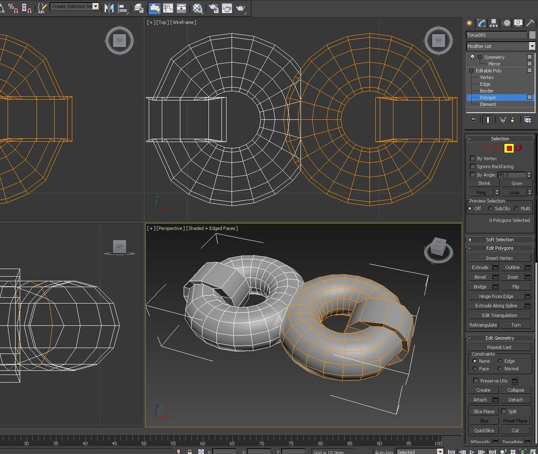 3d Modeling: Creating the Basic Pattern - Edge Loops & Bevel