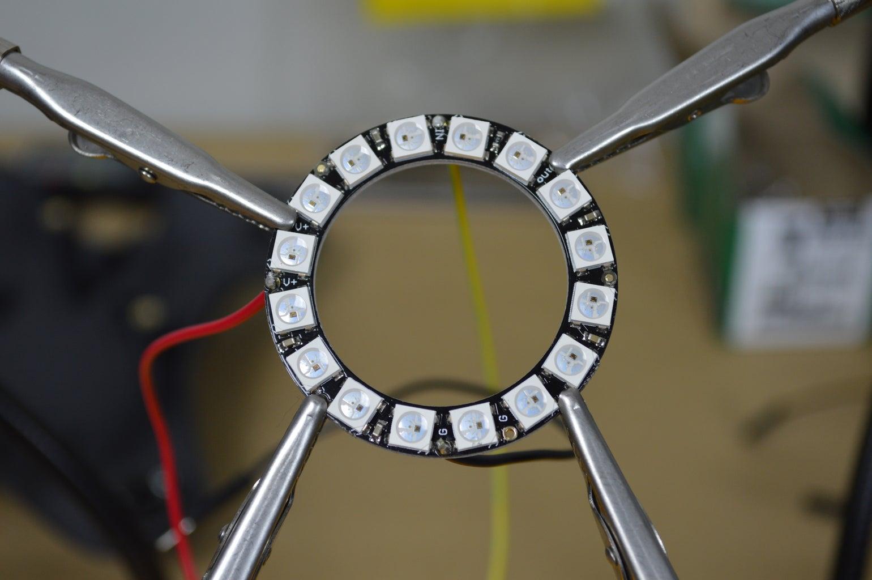 Solder Wires to NeoPixel Ring