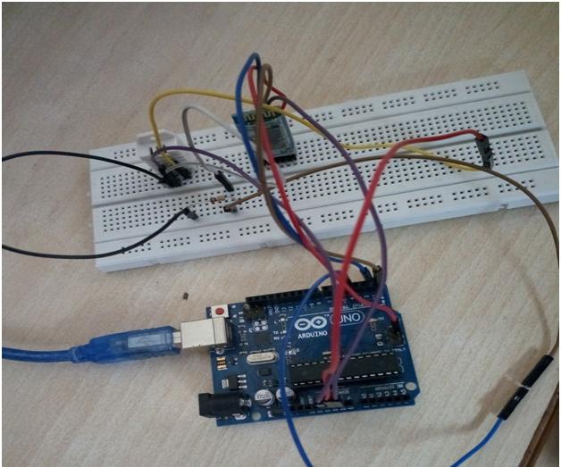 DHT-22 Sensor Data in Smartphone Using HC-05 and Arduino